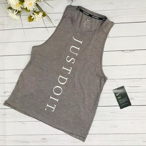 Grey dri-fit Running Muscle Tank Top